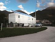 Castelluccio di Norcia. Una struttura per gli sfollati del terremoto <br /> 30 ottobre  2016 . Daniele Stefanini /  OneShot