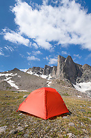 Backcountry camp below Pronghorn Peak. Bridger Wilderness. Wind River Range, Wyoming