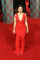 Emilia Clarke, EE British Academy Film Awards 2016 (BAFTAs), Royal Opera House, London UK, 14 February 2016, Photo by Richard Goldschmidt