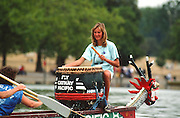 London, GREAT BRITAIN,   Dragon Boat's, Drummers, on the Serpentine Lake in London's Hyde Park [Photo Peter Spurrier/Intersport-images]