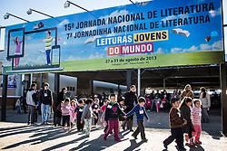Público infantil no pátio da UFP - Universidade Federal de Passo Fundo onde acontece a Jornada de Literatura de Passo Fundo. FOTO: Jefferson Bernardes/Preview.com