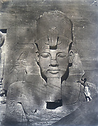 Rameses II.  Maxime du Camp 'Photographs of Egypt', 1852.