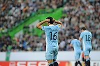 20120308: LISBON, PORTUGAL - UEFA Europa League 2011/2012 - 1st Leg: Sporting CP vs Man. City.<br /> In photo: Kun Aguero<br /> PHOTO: Alvaro Isidoro/CITYFILES