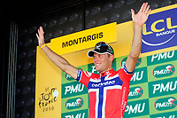 CYCLING - TOUR DE FRANCE 2010 - MONTARGIS (FRA) - 08/07/2010 - PHOTO : VINCENT CURUTCHET / DPPI - <br /> STAGE 5 - EPERNAY > MONTARGIS - THOR HUSHOVD (NOR) / CERVELO TEST TEAM