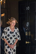 """Annemarie Plas, the founder of """"Clap For Our Carers"""", walks from 10 Downing Street, London to clap for carers as part of the NHS birthday celebrations to salute the NHS 72nd birthday. (VXP Photo/ Vudi Xhymshiti)"""