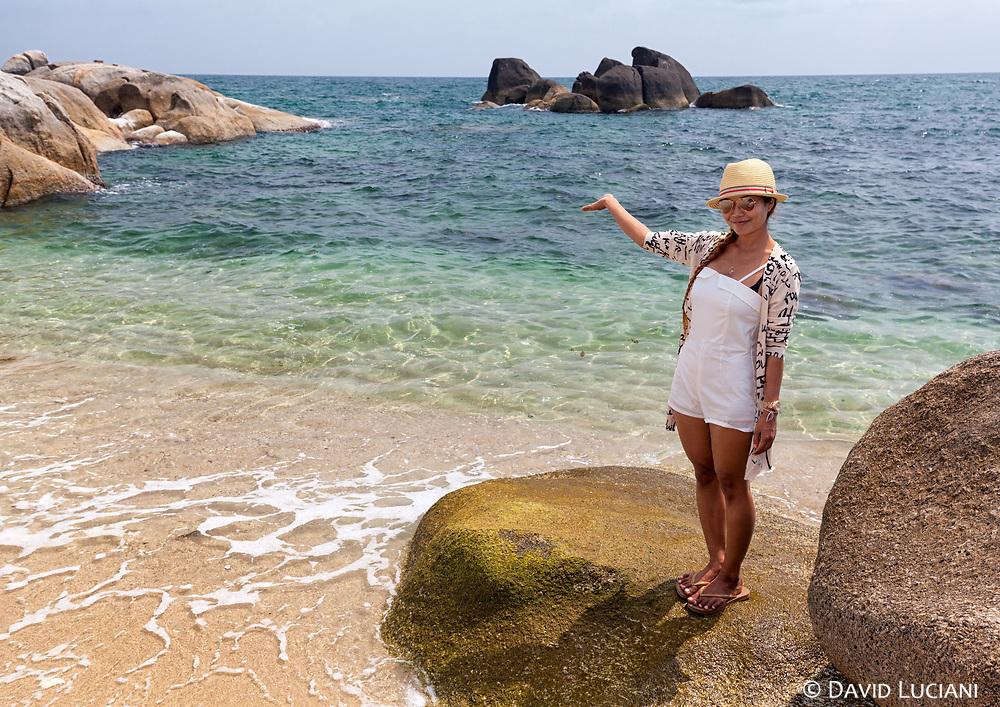 Pare on the beach in Koh Samui.