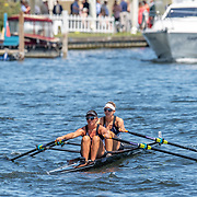 Olivia Loe & Brooke Donoghue , New Zealand elite  Womens Double Scull <br /> <br /> Racing at the Henley Royal Regatta on The Thames river, Henley on Thames, England. Thursday 4 July 2019. © Copyright photo Steve McArthur / www.photosport.nz