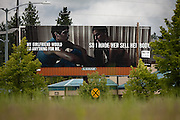 A new anti-meth campaign advertisement along South Spokane Street in Post Falls has come under criticism recently due to its linkage of methamphetamine usage and prostitution.
