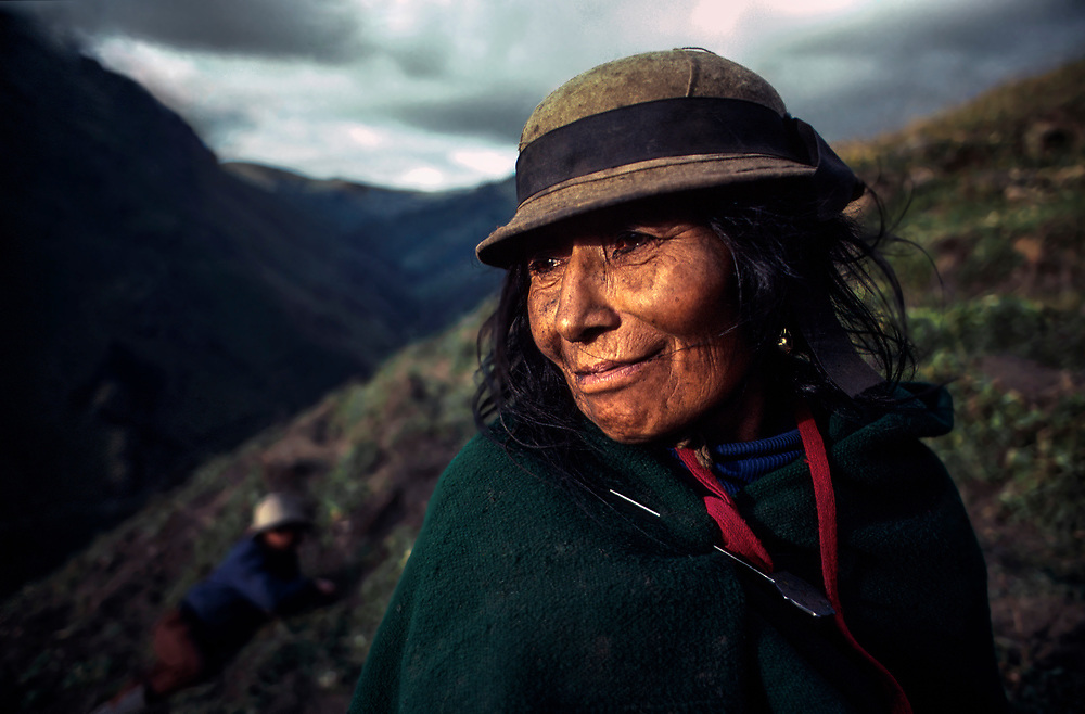 Potato farmers, Chimborazo Province, Ecuador