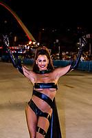 Brazilian actress Deborah Secco at the Carnaval parades at the Sambadrome, Rio de Janeiro, Brazil.