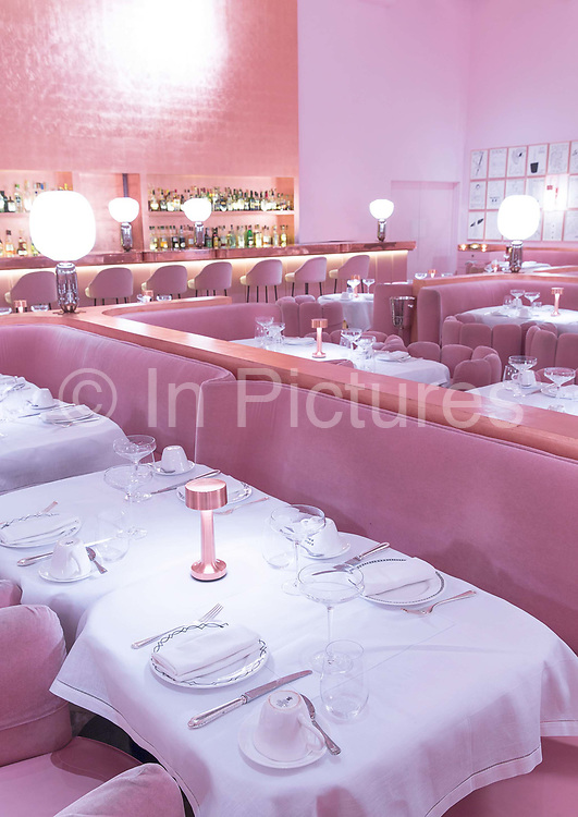 Interior of The Gallery, afternoon tea and dining room, at Sketch London in Mayfair on 4th November 2015 in London, United Kingdom. The Gallery holds a vast number of British visual artist David Shrigleys drawings.
