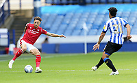 Nottingham Forest's Matty Cash turns under pressure from Sheffield Wednesday's Massimo Luongo <br /> <br /> Photographer Rich Linley/CameraSport<br /> <br /> The EFL Sky Bet Championship - Sheffield Wednesday v Nottingham Forest - Saturday 20th June 2020 - Hillsborough - Sheffield <br /> <br /> World Copyright © 2020 CameraSport. All rights reserved. 43 Linden Ave. Countesthorpe. Leicester. England. LE8 5PG - Tel: +44 (0) 116 277 4147 - admin@camerasport.com - www.camerasport.com