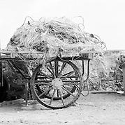 Fishing nets on cart, Salina, Aeolian Islands, Italy