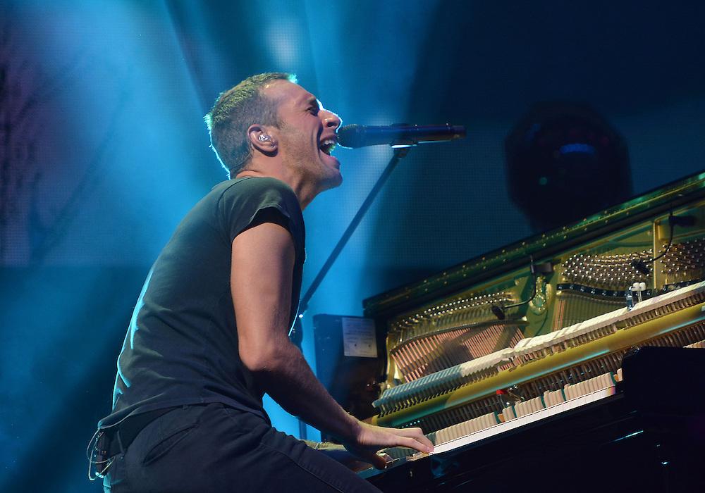 BBC Radio Big Weekend  Glasgow  Day 2 <br /> Headline act Coldplay Chris Martin <br /> Pix dave nelson
