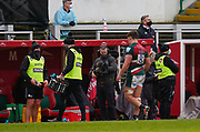 Leicester Tigers No.8 Jasper Wiese leaves the field after his 27th minute red card during a Gallagher Premiership Round 10 Rugby Union match, Friday, Feb. 20, 2021, in Leicester, United Kingdom. (Steve Flynn/Image of Sport)