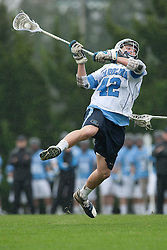 28 March 2009: North Carolina Tar Heels midfielder Sean Burke (42) during a 10-9 overtime win over the Johns Hopkins Blue Jays on Fetzer Field in Chapel Hill, NC.