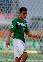 Photo: Glyn Thomas.<br />Mexico v Iran. Group D, FIFA World Cup 2006. 11/06/2006.<br /> Mexico's Omar Bravo, who scored two goals.