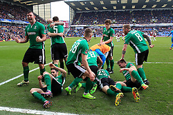 18th February 2017 - FA Cup - 5th Round - Burnley v Lincoln City - Lincoln players celebrate their late winner - Photo: Simon Stacpoole / Offside.