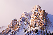 Winter dawn on Carson Peak, Inyo National Forest, June Lake, California USA