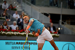 May 9, 2019 - Madrid, Spain - Rafa Nadal (SPA) in his match against Frances Tiafoe (USA) during day six of the Mutua Madrid Open at La Caja Magica in Madrid on 9th May, 2019. (Credit Image: © Juan Carlos Lucas/NurPhoto via ZUMA Press)
