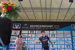Radsport: 36. Bayern Rundfahrt 2015 / 3. Etappe, Selb - Ebern, 15.05.2015<br /> Cycling: 36th Tour of Bavaria 2015 / Stage 3, <br /> Selb - Ebern, 15.05.2015<br /> Siegerehrung - podium, <br /> # 113 Bennett, Sam (IRL, Team BORA-ARGON 18),