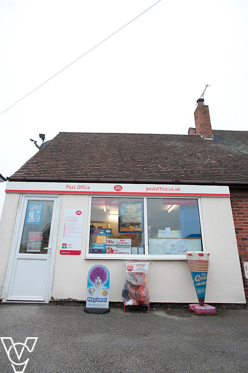 General view of the outside of Shireoak Post Office, Worksop.<br /> <br /> Shireoaks Post Office, Worksop.  Community Fund feature.<br /> <br /> Date: December 1, 2014