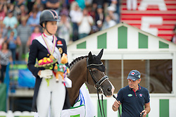 Alan Davies, Valegro and Charlotte Dujardin, (GBR) - Freestyle Grand Prix Dressage - Alltech FEI World Equestrian Games™ 2014 - Normandy, France.<br /> © Hippo Foto Team - Jon Stroud<br /> 25/06/14