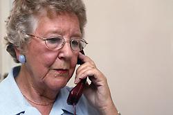 Woman making a telephone call,
