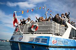 03.07.2011, Ironman Austria, Klagenfurt, Kaernten, im Bild Fans auf VIP Boot, EXPA Pictures © 2011, PhotoCredit: EXPA/ M. Kuhnke