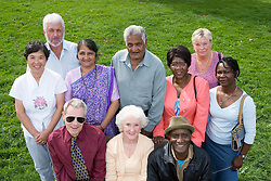 Multiracial group of adults,