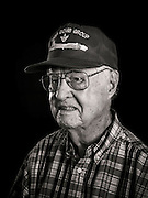 Lewis Herron flew 33 missions as a B-17 tail gunner, with the 350th Squadron, of the 100th Bomb Group.   <br />