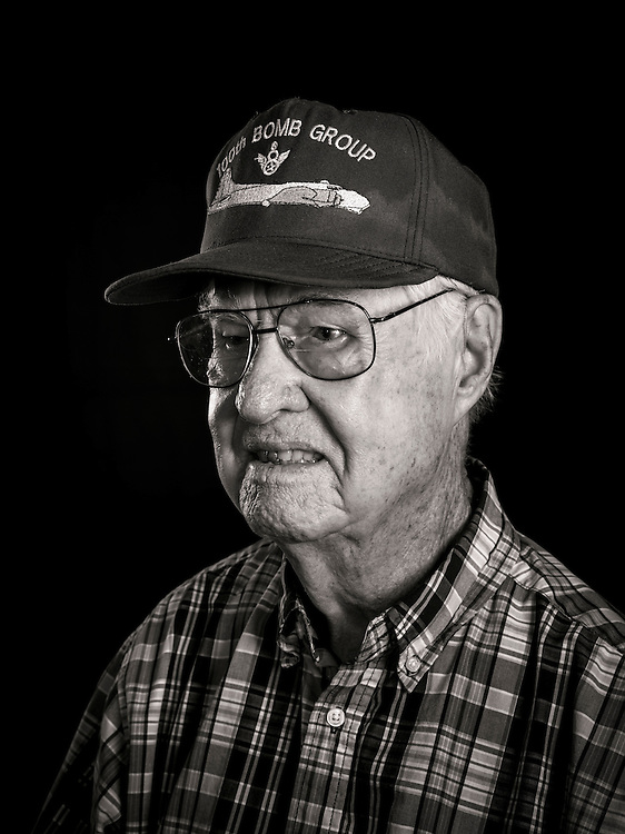 Lewis Herron flew 33 missions as a B-17 tail gunner, with the 350th Squadron, of the 100th Bomb Group.   <br /> <br /> Created by aviation photographer John Slemp of Aerographs Aviation Photography. Clients include Goodyear Aviation Tires, Phillips 66 Aviation Fuels, Smithsonian Air & Space magazine, and The Lindbergh Foundation.  Specialising in high end commercial aviation photography and the supply of aviation stock photography for advertising, corporate, and editorial use.