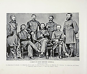 """Northern General from The American Civil War book and Grant album : """"art immortelles"""" : a portfolio of half-tone reproductions from rare and costly photographs designed to perpetuate the memory of General Ulysses S. Grant, depicting scenes and incidents in connection with the Civil War Published  in Boston and New York by W. H. Allen in 1894"""