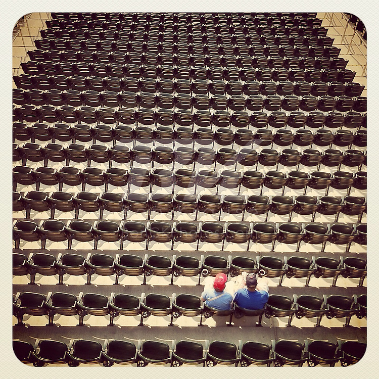 An Instagram of some fans sitting in the stands at Target Field in Minneapolis, Minnesota.