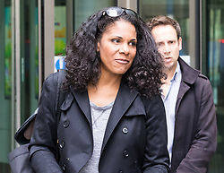 London, July 23rd 2017. Singer Audra McDonald leaves the BBC's New Broadcasting House after performing on the Andrew Marr Show as she promotes her role as Billie Holiday in Lady Day at Emerson's Bar and Grill at Wyndham's theatre in London.