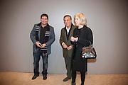 KENNY GOSS; DAVID MEITUS; ANGELA WESTWATER;, Ai Weiwei Unilever series opening. Tate Modern. 11 October 2010. -DO NOT ARCHIVE-© Copyright Photograph by Dafydd Jones. 248 Clapham Rd. London SW9 0PZ. Tel 0207 820 0771. www.dafjones.com.