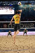 Beachvolleyball: FIVB World Tour Finals, Hamburg, 23.08.2017<br /> Herren: Alvaro Fiho / Saymon (BRA) - Jonathan Erdmann / Armin Dollinger (GER)<br /> © Torsten Helmke