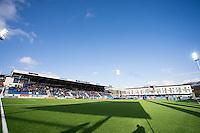 1. divisjon fotball 2015: Hødd - Fredrikstad. Nye Høddvoll stadion klar til førstedivisjonskampen mellom Hødd og Fredrikstad. Ballongslipp i anledning stadionåpningen.