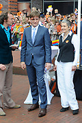 Koningsdag 2014 in Amstelveen, het vieren van de verjaardag van de koning. / Kingsday 2014 in Amstelveen, celebrating the birthday of the King. <br /> <br /> <br /> Op de foto / On the photo:  Prins Pieter-Christiaan / Prince Pieter-Christiaan