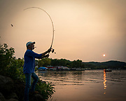 """Army veteran Larry """"Jimmy"""" McKenna fishes almost everyday. (Photo © Andy Manis)"""