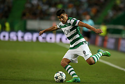 August 15, 2017 - Lisbon, Portugal - Sporting's midfielder Marcos Acuna from Argentina in action during the UEFA Champions League play-offs first leg football match between Sporting CP and FC Steaua Bucuresti at the Alvalade stadium in Lisbon, Portugal on August 15, 2017. (Credit Image: © Pedro Fiuza/NurPhoto via ZUMA Press)