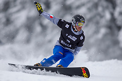 Aaron March (ITA) during Final Run at Parallel Giant Slalom at FIS Snowboard World Cup Rogla 2019, on January 19, 2019 at Course Jasa, Rogla, Slovenia. Photo byJurij Vodusek / Sportida