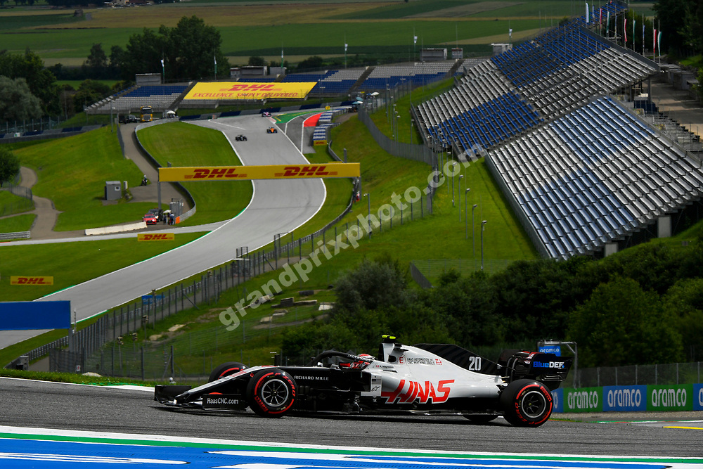 Kevin Magnussen (Haas-Ferrari) during practice for the 2020 Austrian Grand Prix at the Red Bull Ring in Spielberg.  © Copyright: FIA Pool Image for Editorial Use Only