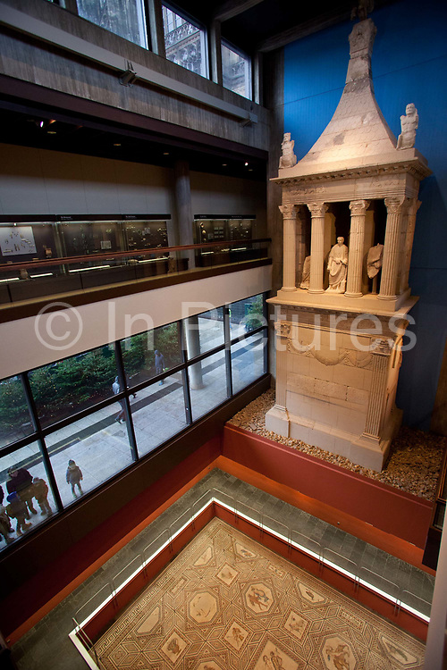 Exhibits of Ancient artefacts in the Roman German museum, Cologne.