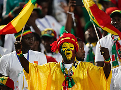 July 19, 2019 - Cairo, Algeria, Egypt - FRANCE OUT July 19, 2019: Senegal fans before the Final of 2019 African Cup of Nations match between Algeria and Senegal at the Cairo International Stadium in Cairo, Egypt.  (Credit Image: RealTime Images)