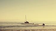 Untitled (Sailboats and Jetski at Butterfly Beach), 2011. Santa Barbara, California. ©Ciro Coelho.