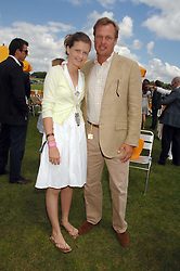 The MARQUESS OF MILFORD-HAVEN and his step daughter LOUISA WENTWORTH-STANLEY at the final of the Veuve Clicquot Gold Cup 2007 at Cowdray Park, West Sussex on 22nd July 2007.<br />