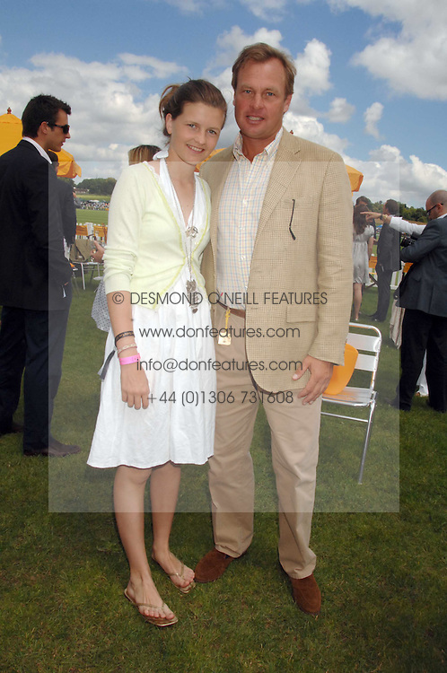 The MARQUESS OF MILFORD-HAVEN and his step daughter LOUISA WENTWORTH-STANLEY at the final of the Veuve Clicquot Gold Cup 2007 at Cowdray Park, West Sussex on 22nd July 2007.<br /> <br /> NON EXCLUSIVE - WORLD RIGHTS
