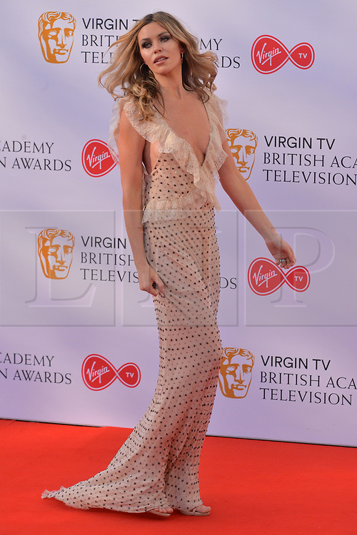 © Licensed to London News Pictures. 13/05/2018. London, UK. ABI CLANCY arrives for the Virgin TV British Academy (BAFTA) Television Awards. Photo credit: Ray Tang/LNP