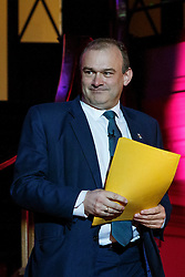 © Licensed to London News Pictures. 17/03/2015. LONDON, UK. Energy and Climate Secretary Ed Davey delivering a speech during 'Homes for Britain' rally at Methodist Central Hall in London on Tuesday, 17 March 2015. Photo credit : Tolga Akmen/LNP